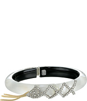 Alexis Bittar - Crystal Encrusted Lattice Lace Hinge w/ Vintage Fringe Bracelet