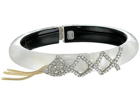 Alexis Bittar Crystal Encrusted Lattice Lace Hinge w/ Vintage Fringe Bracelet