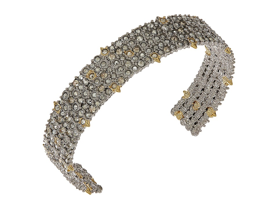 Alexis Bittar - Crystal Lace Cuff Bracelet (Rhodium/10K Gold) Bracelet