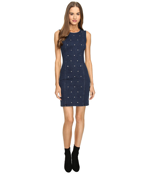 LOVE Moschino Star Studded Denim Dress