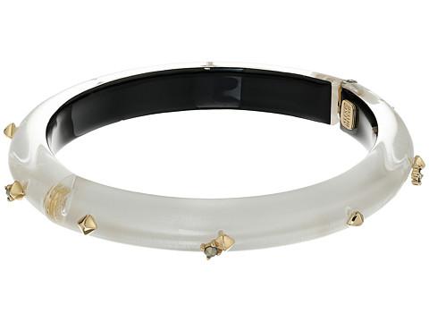 Alexis Bittar Gold Studded Hinge Bracelet - Silver