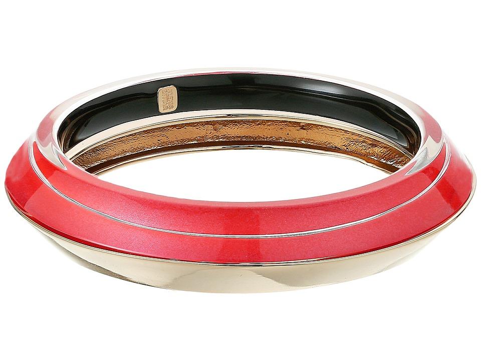 Image of Alexis Bittar - Angled Bangle Set Bracelet (Fire Opal) Bracelet