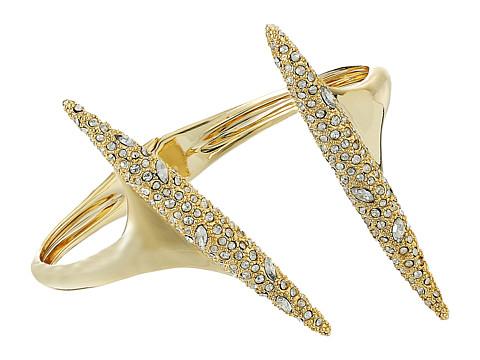 Alexis Bittar Crystal Encrusted Modernist Spear Hinge Bracelet
