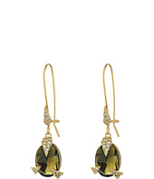 Alexis Bittar - Crystal Encrusted Mosaic Futurist Drop w/ Custom Cut Stone Earrings