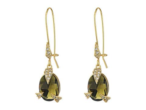 Alexis Bittar Crystal Encrusted Mosaic Futurist Drop w/ Custom Cut Stone Earrings