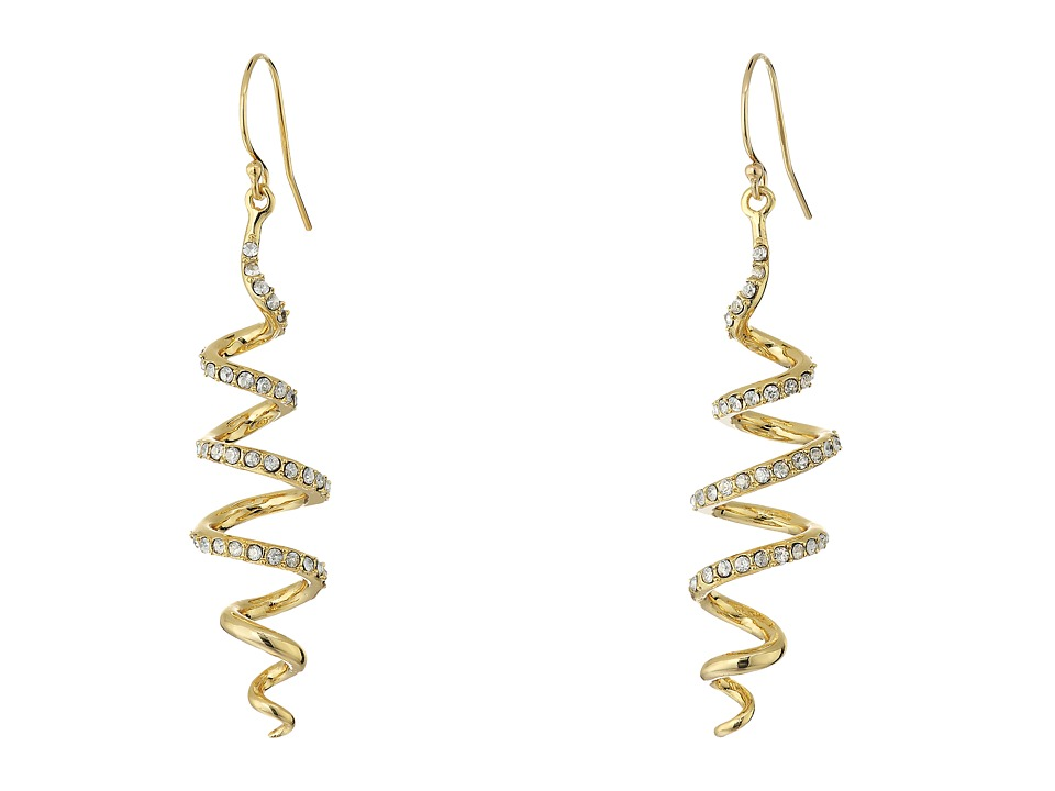 Image of Alexis Bittar - Crystal Encrusted Coil Wire Earrings (10K Gold) Earring