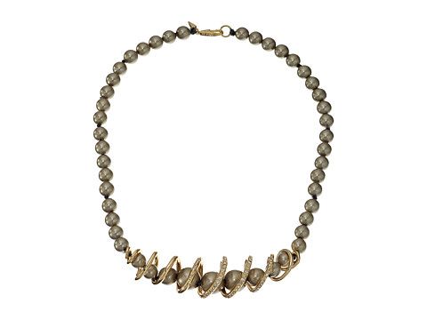Alexis Bittar Crystal Encrusted Coiled Strand Necklace