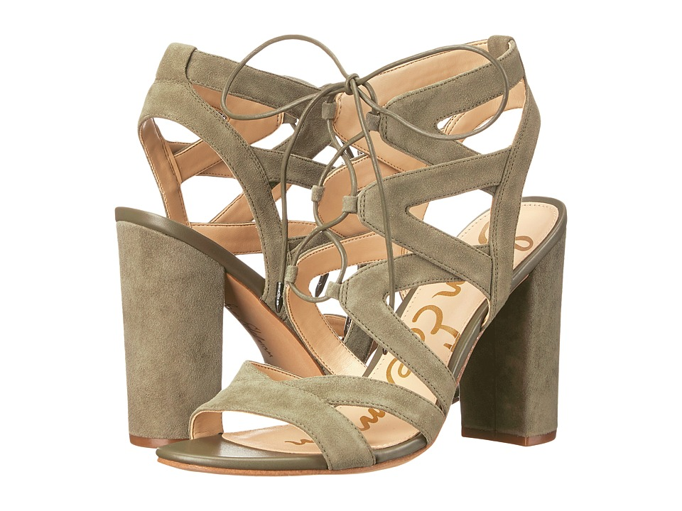 Sam Edelman Yardley (Moss Green Kid Suede Leather) High Heels
