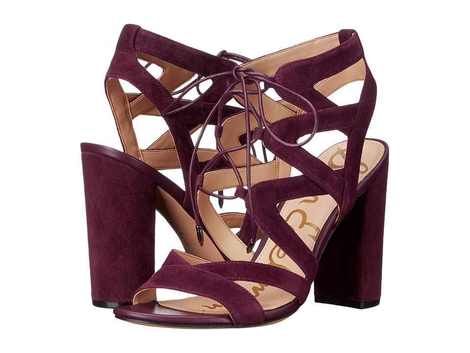 Sam Edelman Yardley (Port Wine Kid Suede Leather) High Heels