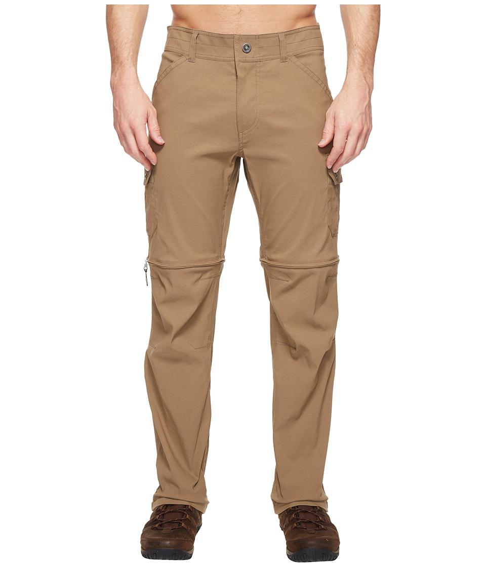 KUHL Renegade Cargo Convertible Pants (Buckskin Khaki) Men