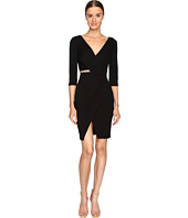 Versace Collection - Long Sleeve V-Neck Knit Side Peek Dress