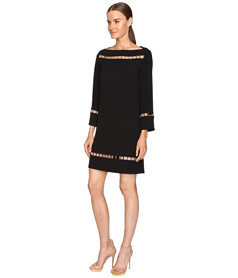 Long sleeve boat neck dress