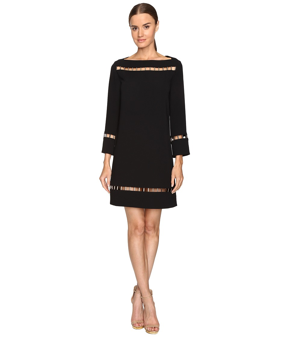 Versace Collection Long Sleeve Boat Neck Dress (Black) Women