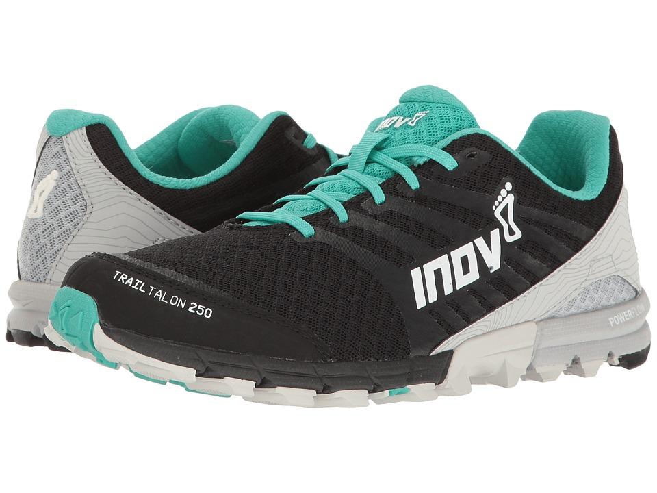 inov-8 - TrailTalon 250 (Black/Teal/Light Grey) Womens Running Shoes