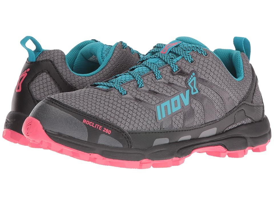 inov-8 - Roclite 280 (Dark Green/Teal/Pink) Womens Running Shoes