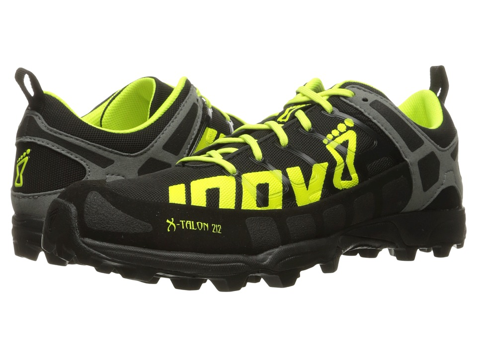 inov-8 - X-Talon 212 (Black/Neon Yellow/Grey) Running Shoes