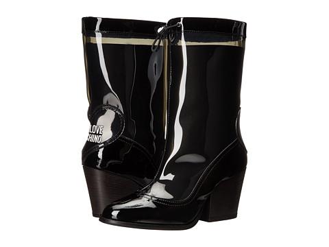 LOVE Moschino Chunky Heeled Rain Boot