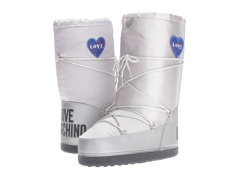 LOVE Moschino - Ankle Moon Boot (Silver) Women
