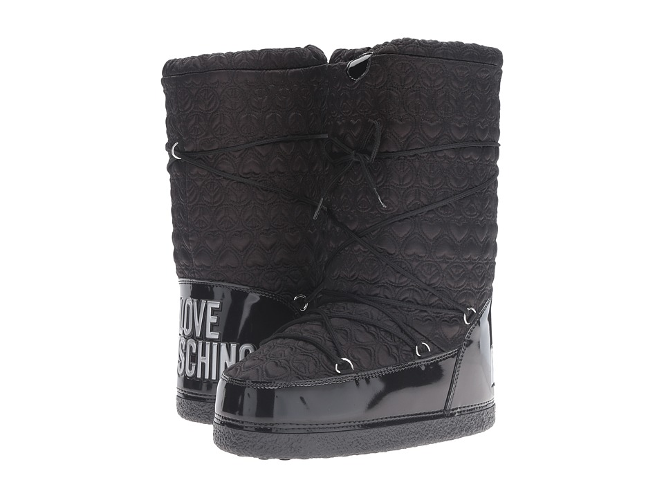 LOVE Moschino Ankle Moon Boot (Black) Women