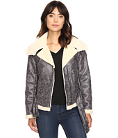 Kenneth Cole New York - Biker Jacket with Sherpa Collar