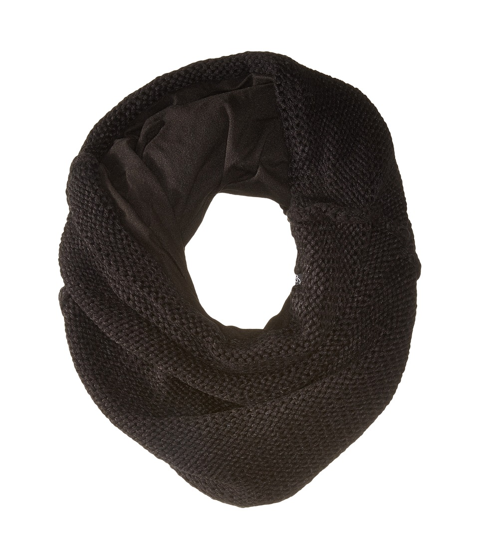 Plush - Fleece-Lined Chunky Knit Neck Warmer (Black) Scarves