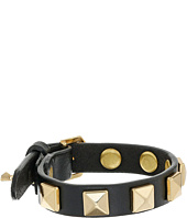 Rebecca Minkoff - Single Row Leather Bracelet with Pyramid Studs