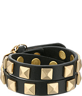Rebecca Minkoff - Double Row Leather Bracelet with Pyramid Studs