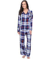 Plush - Ultra Soft Long Sleeve Woven Plaid PJ Set