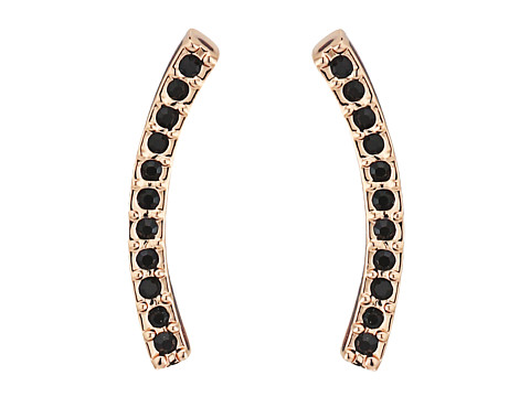 Rebecca Minkoff Pave Ear Climber Earrings - Rose Gold/Black