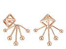Rebecca Minkoff Pyramid Fan Back Ear Jacket Earrings