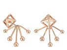 Pyramid Fan Back Ear Jacket Earrings