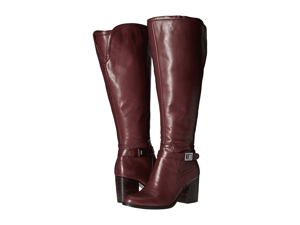 Franco Sarto Arlette Wide Calf (Dark Burgundy) Women