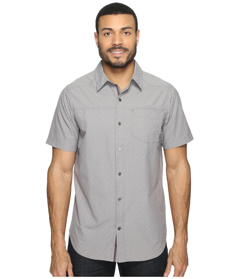 Columbia - Pilsner Peak Print Short Sleeve Short (Purple Sage Dobby) Mens Short Sleeve Button Up