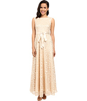 Tahari by ASL - All Over Flourettes with Ribbon Belt Dress