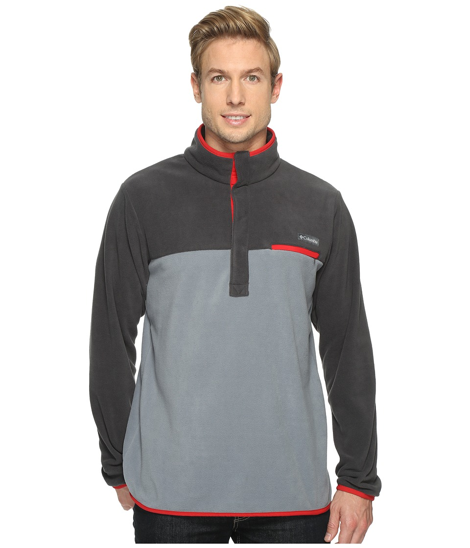 Columbia Mountain Side Fleece Jacket (Grey Ash/Shark/Moutain Red) Men