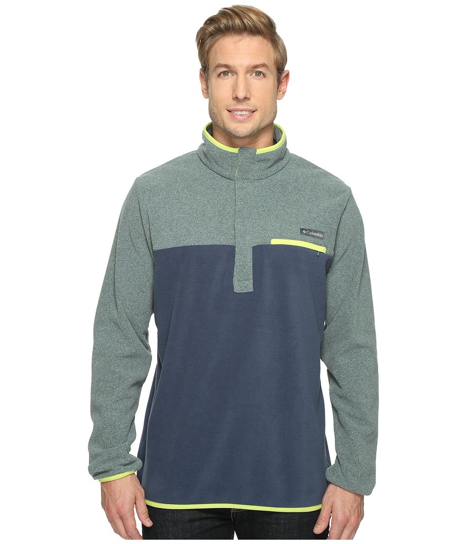 Columbia Mountain Side Fleece Jacket (Pond Heather/Zinc/Voltage) Men