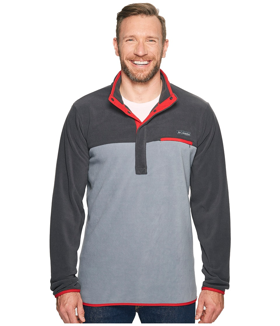 Columbia Mountain Side Fleece Jacket Tall (Grey Ash/Shark/Mountain Red) Men