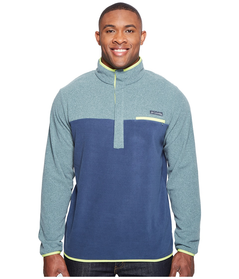 Columbia Mountain Side Fleece Jacket Tall (Pond Heather/Zinc/Voltage) Men