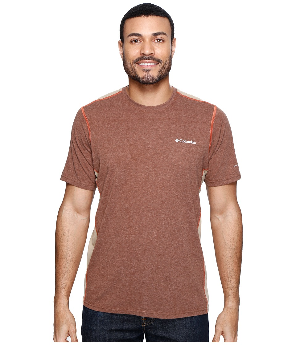 Columbia Silver Ridge Short Sleeve T-Shirt (Pony Heather/British Tan/Tuscan) Men