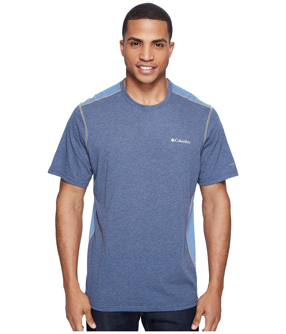Columbia Silver Ridge Short Sleeve T-Shirt (Zinc Heather/Steel/British Tan) Men