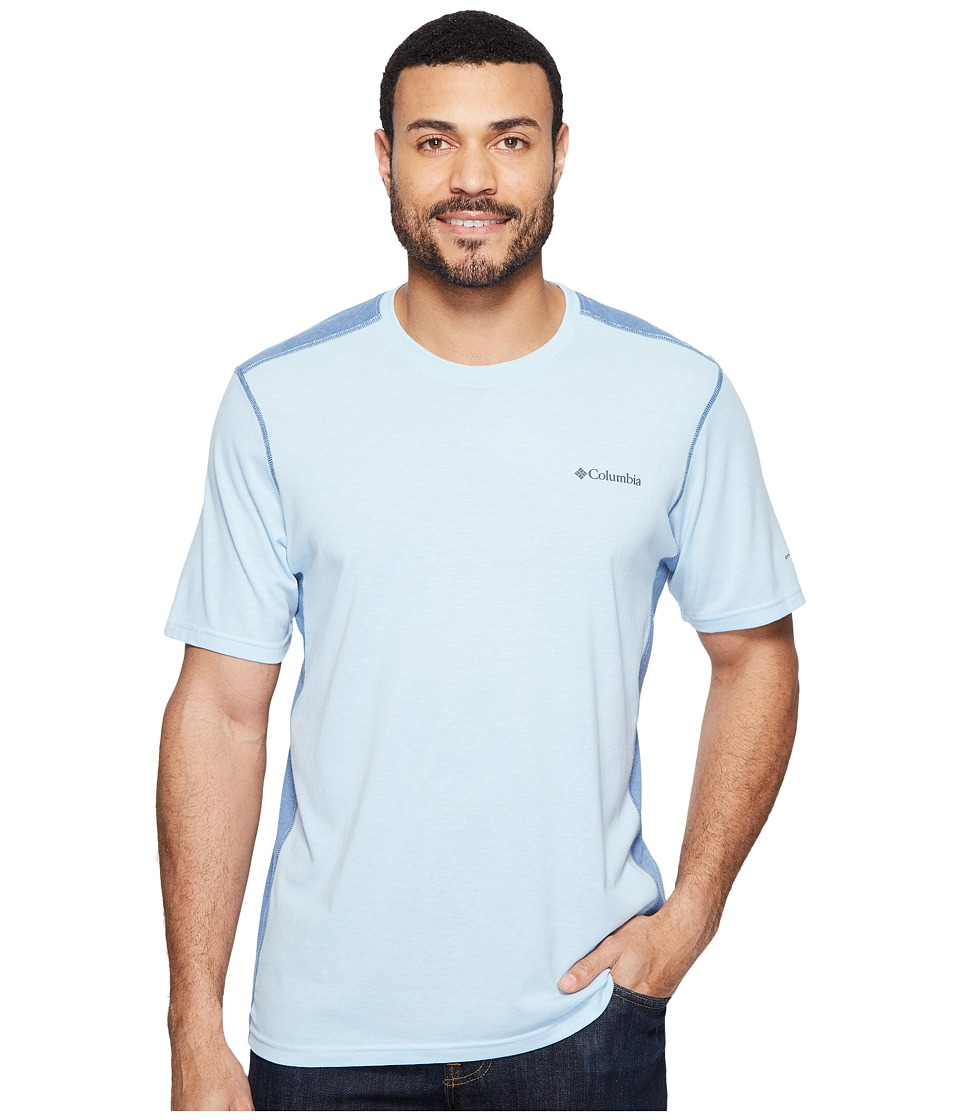 Columbia Silver Ridge Short Sleeve T-Shirt (Oxygen Heather/Steel) Men