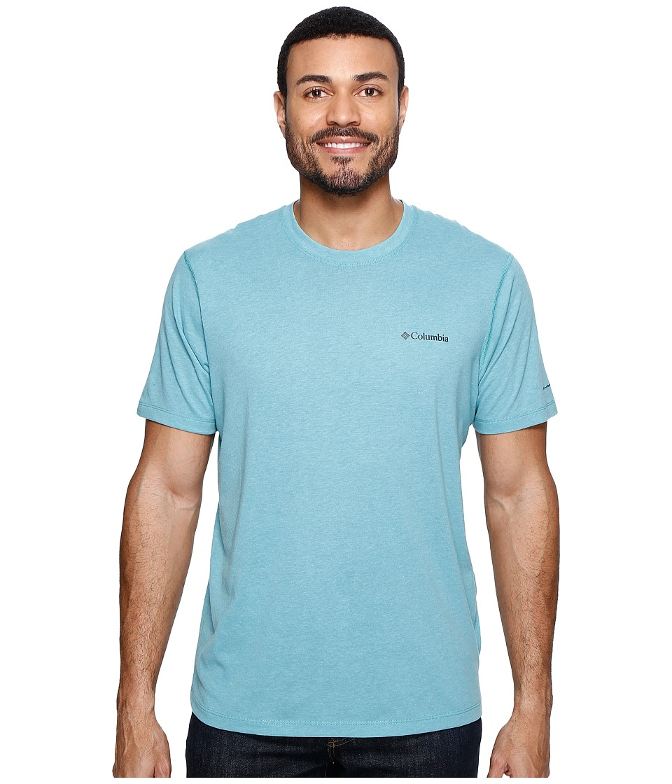 Columbia Silver Ridge Zero Short Sleeve Shirt (Teal Heather) Men