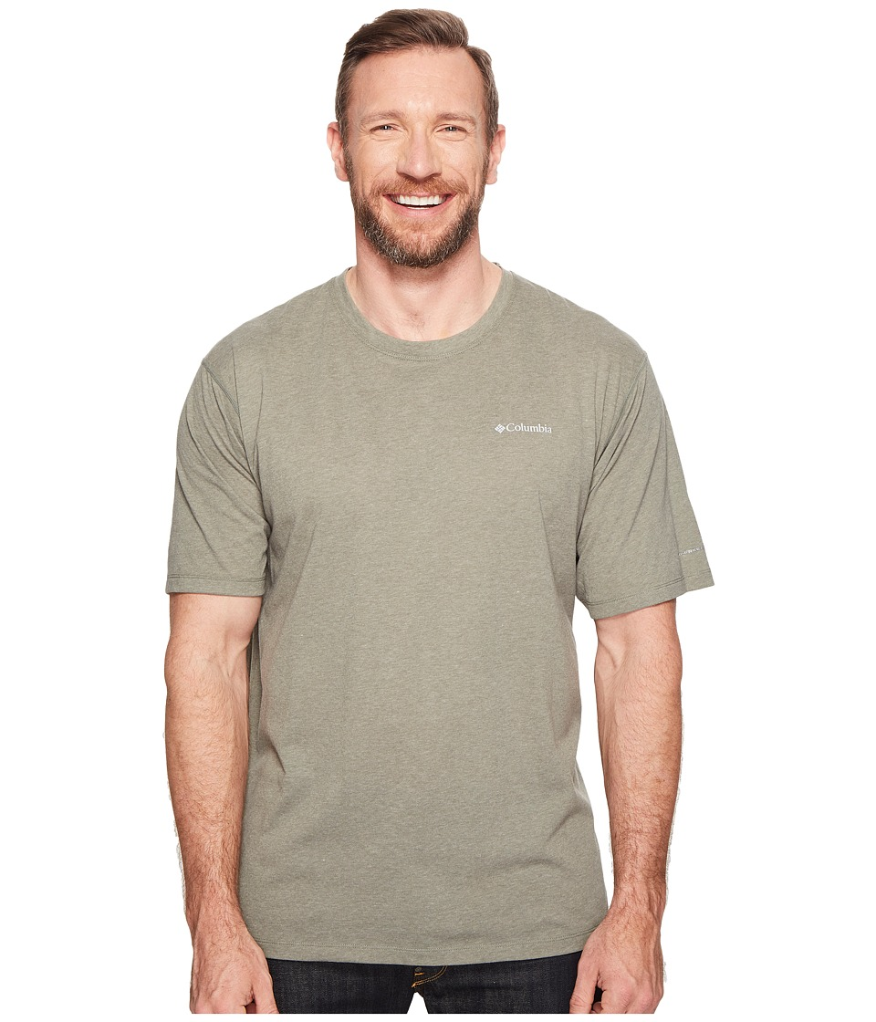 Columbia Big Tall Silver Ridge Zero Short Sleeve Shirt (Cypress Heather) Men