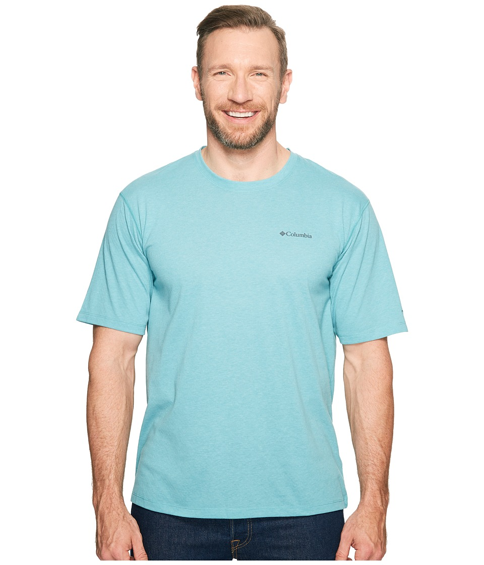 Columbia Big Tall Silver Ridge Zero Short Sleeve Shirt (Teal Heather) Men