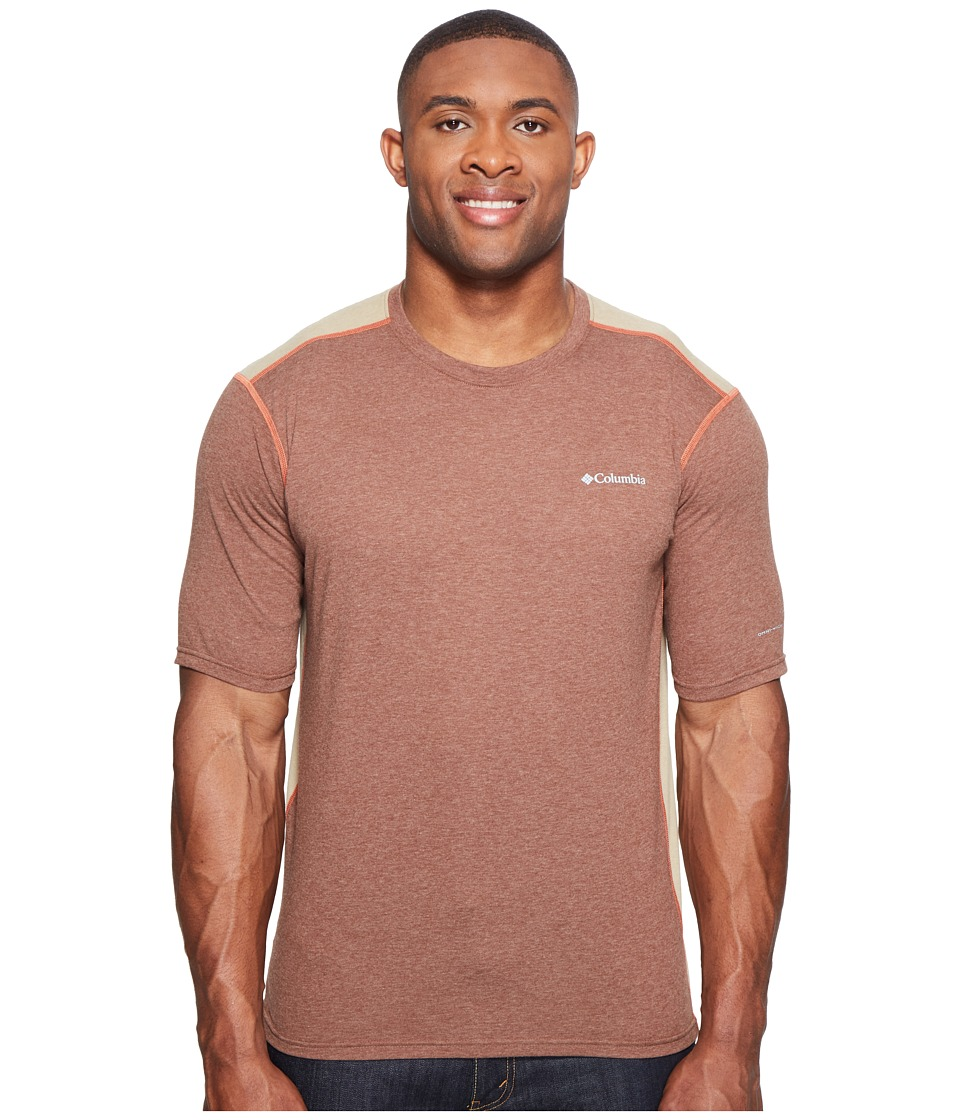 Columbia Big Tall Silver Ridge Short Sleeve T-Shirt (Pony Heather/British Tan/Tuscan) Men