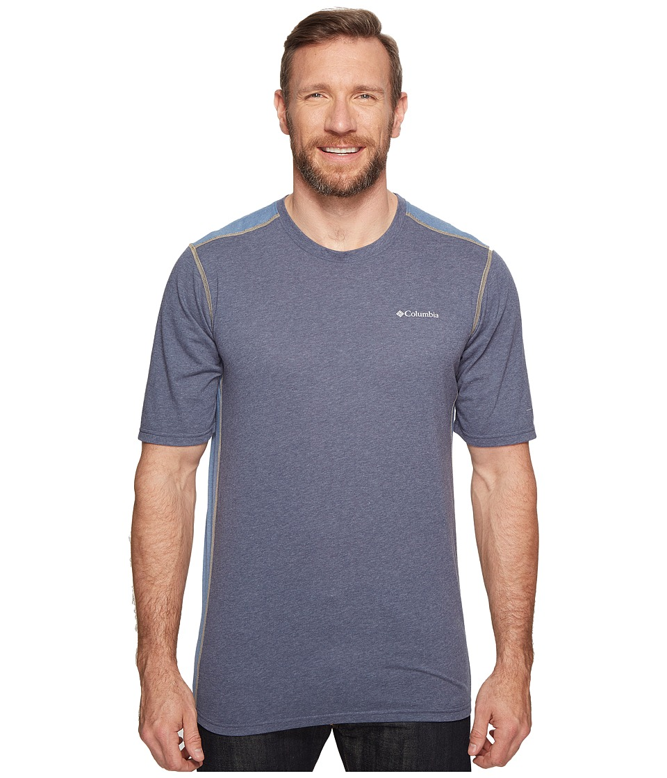 Columbia Big Tall Silver Ridge Short Sleeve T-Shirt (Zinc/Heather/Steel) Men