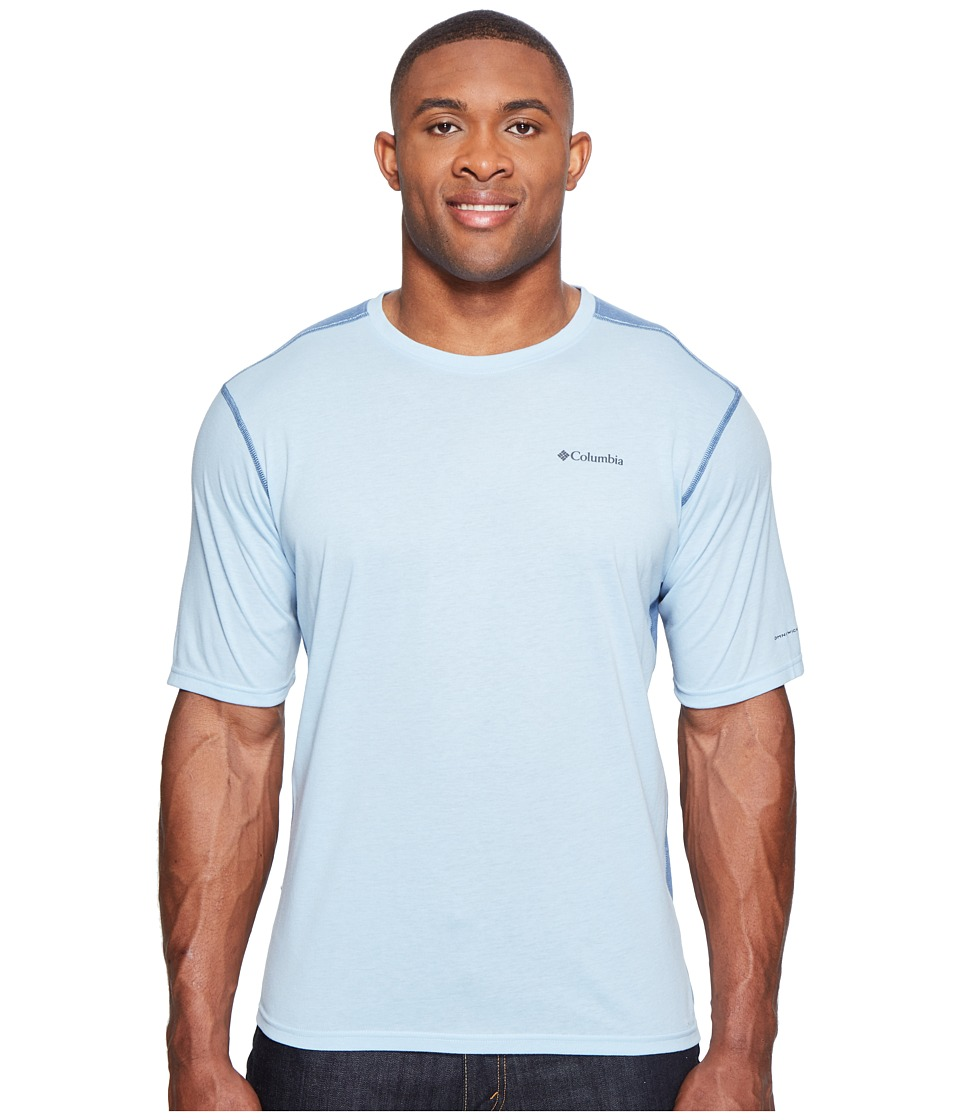 Columbia Big Tall Silver Ridge Short Sleeve T-Shirt (Oxygen Heather/Steel) Men