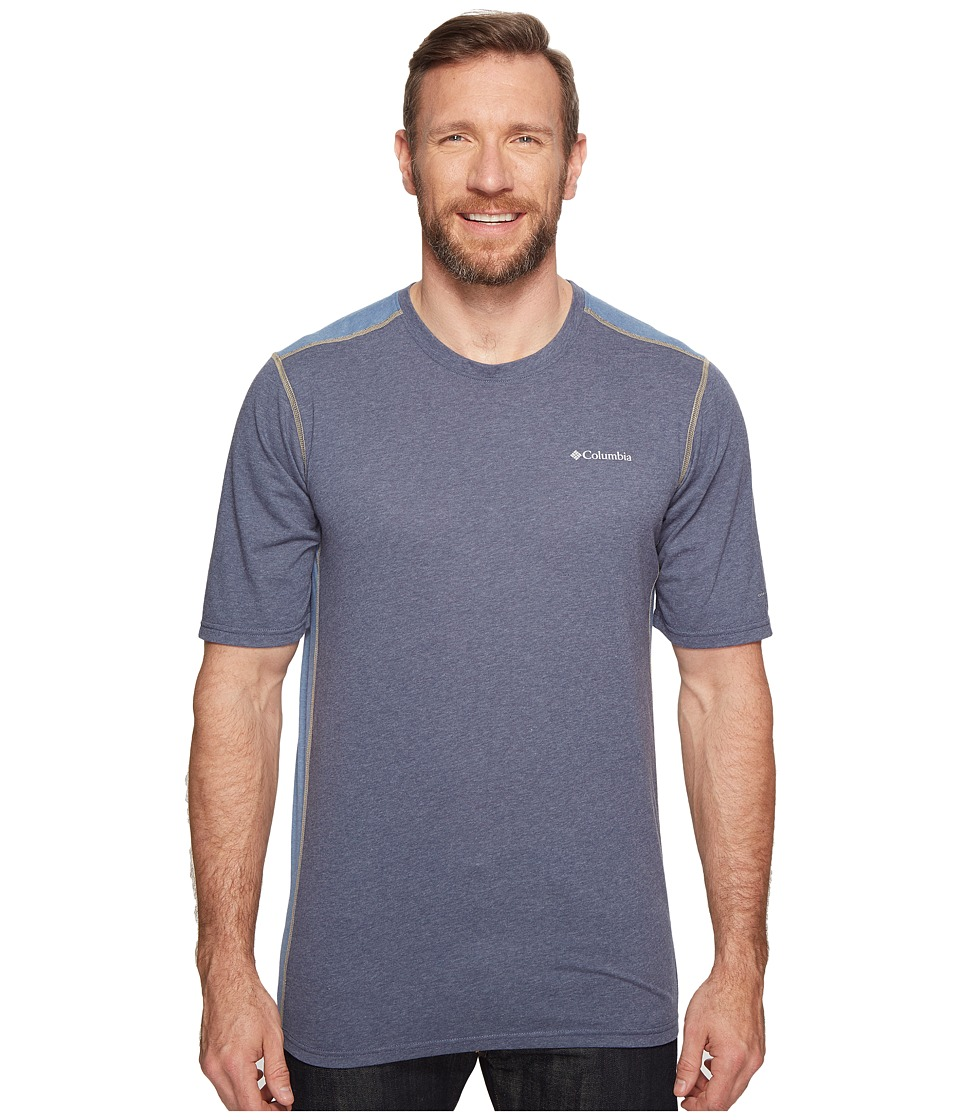 Columbia Big Tall Silver Ridge Short Sleeve T-Shirt (Zinc Heather/Steel/British Tan) Men