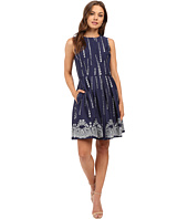 Christin Michaels - Sky Embroidered Sleeveless Dress
