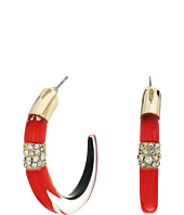 Alexis Bittar - Crystal Encrusted Minimalist Hoop Earrings